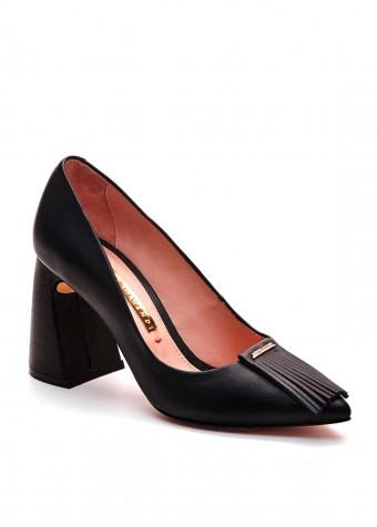 721402 Чорні шкіряні туфлі