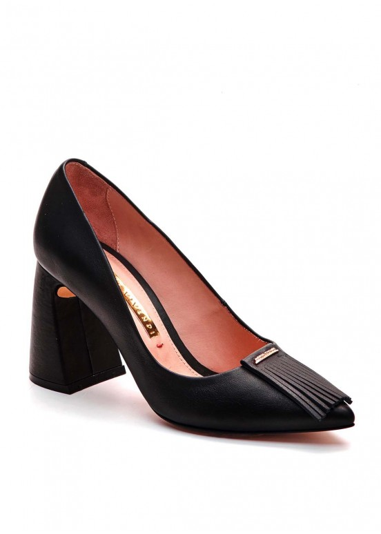 721402 Черные кожаные туфли