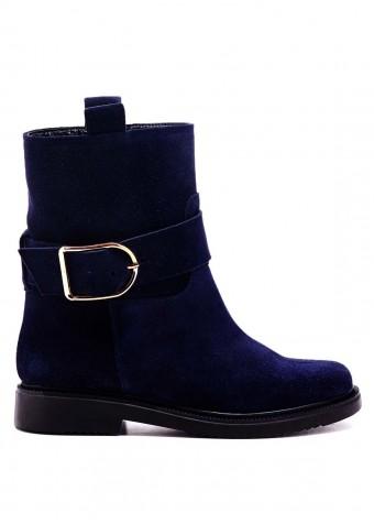 530532 Синие замшевые ботинки