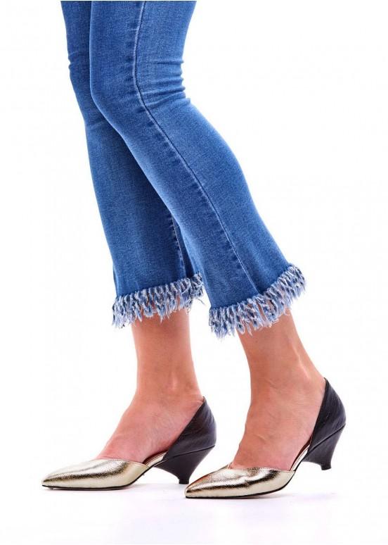 716302 Туфли-деленки кожаные