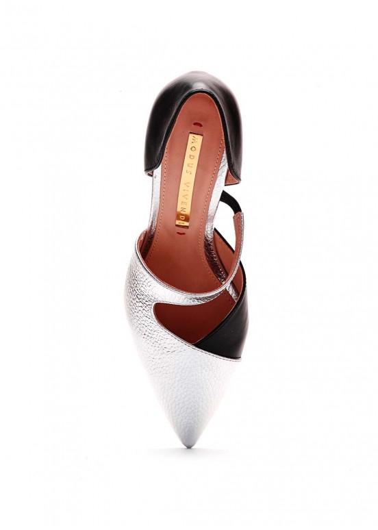 973212 Туфли комбинированные кожаные