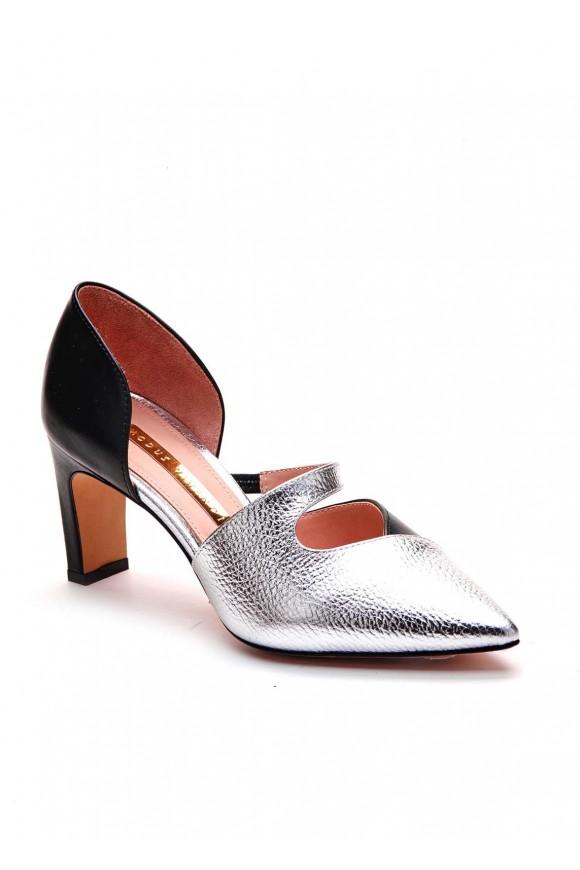 Туфли комбинированные кожаные