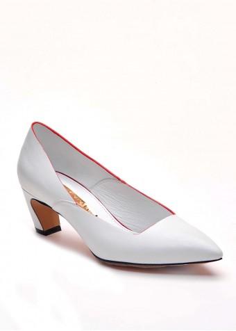 716803 Білі шкіряні туфлі