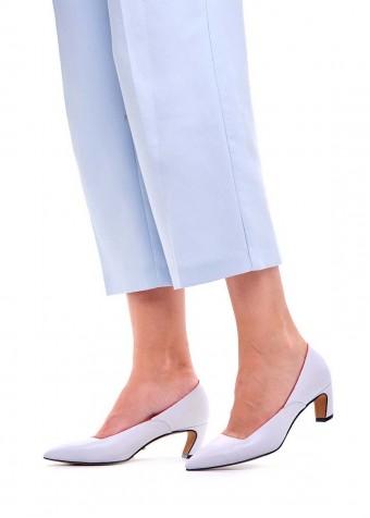 716803 Белые кожаные туфли