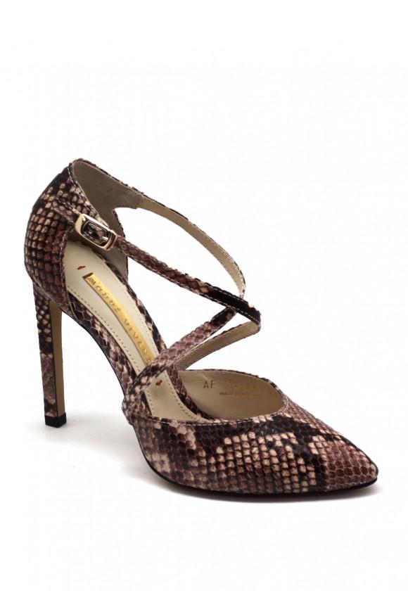 Туфлі на Високих Каблуках з Тисненням під Рептилію
