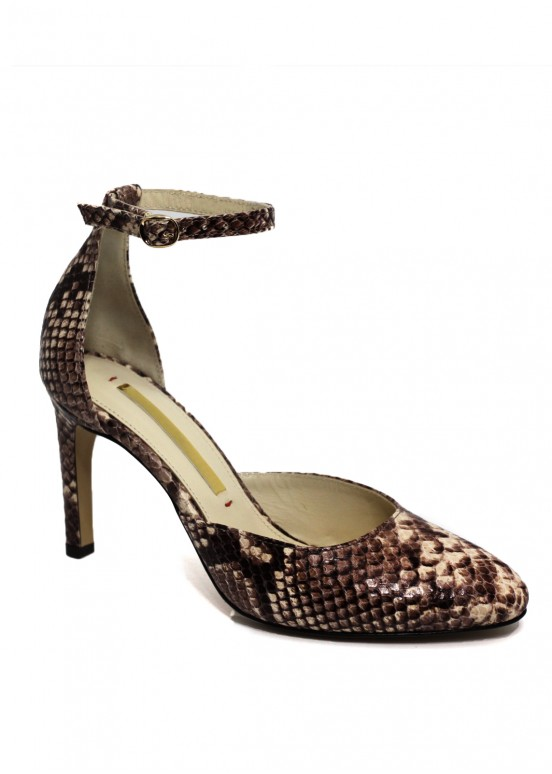 891621Кожаные туфли бежевые