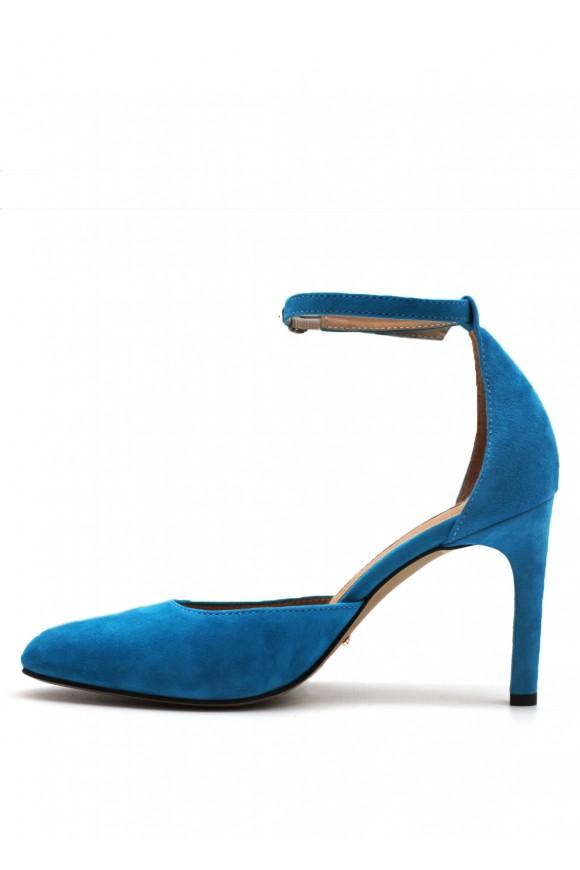Открытые замшевые туфли