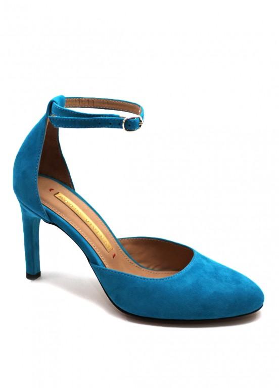 891611 Открытые замшевые туфли