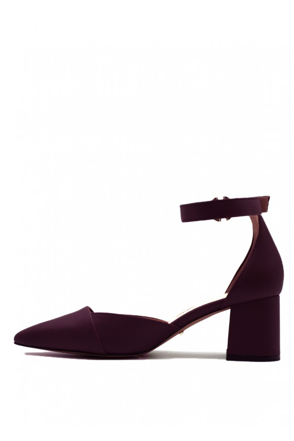 Туфли кожаные лиловые