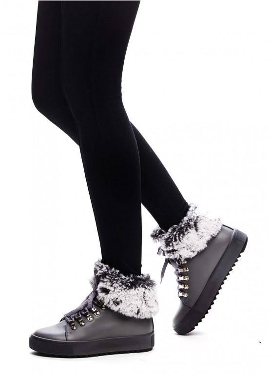 529816 Серые ботинки