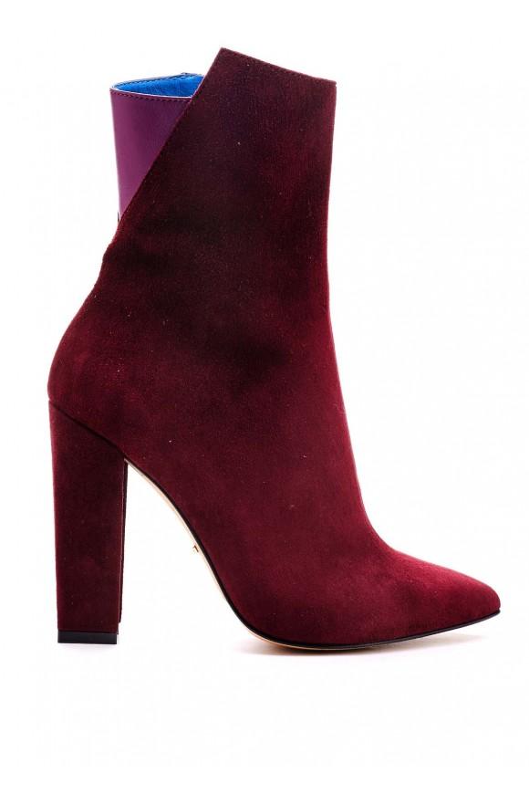 Ботинки на Высоких Каблуках Цвета Марсала