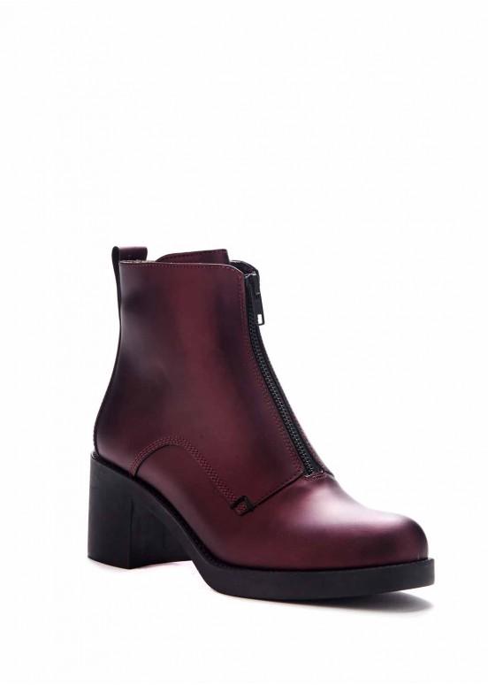 737221 Бордовые ботинки