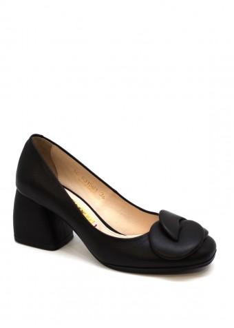 631591 Шкіряні чорні туфлі