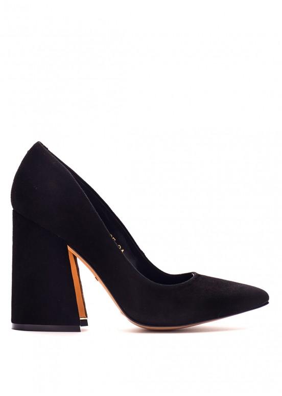 764835 Замшевые черные туфли
