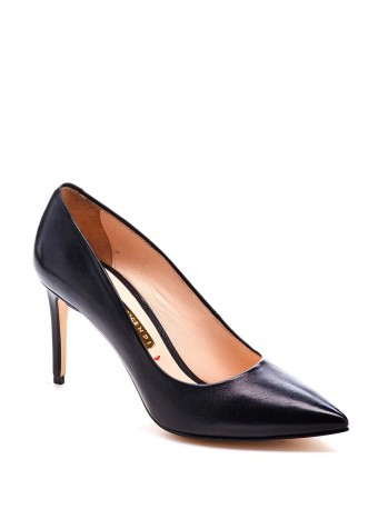 721001 Шкіряні чорні туфлі