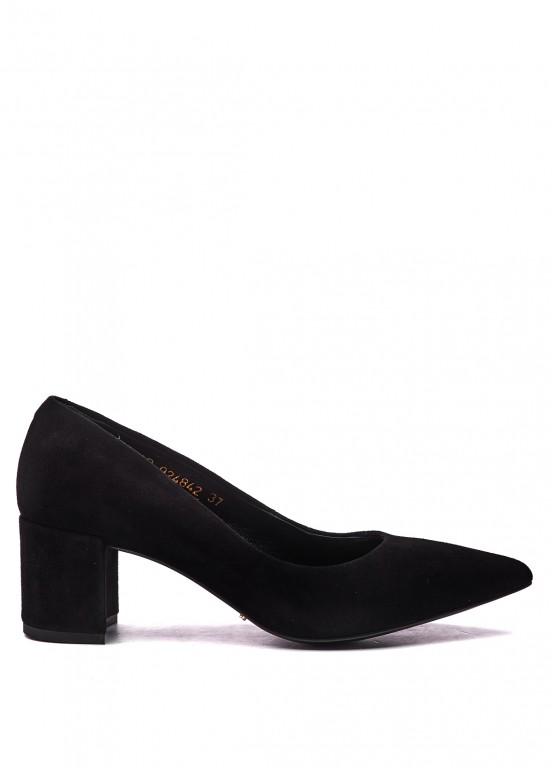 924842 Туфли замшевые черные