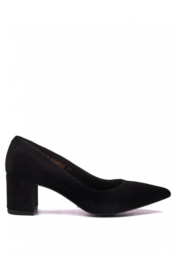 Туфлі замшеві чорні