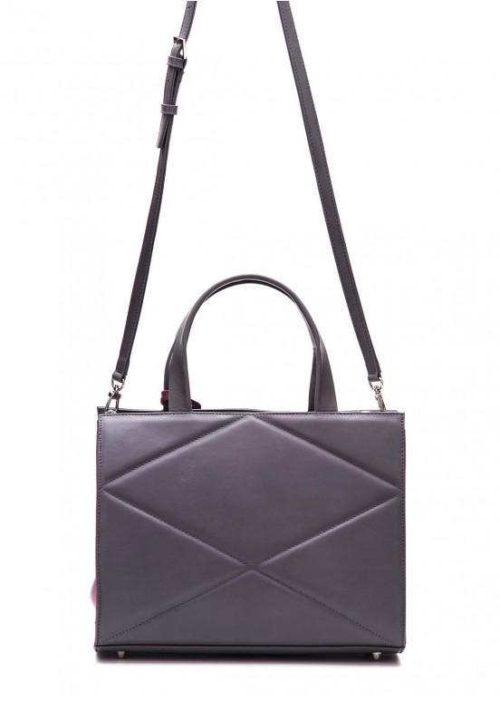 87802 Серая замшевая сумка