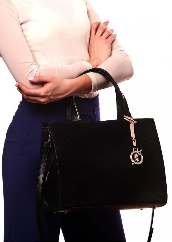 87803 Черная кожаная сумка