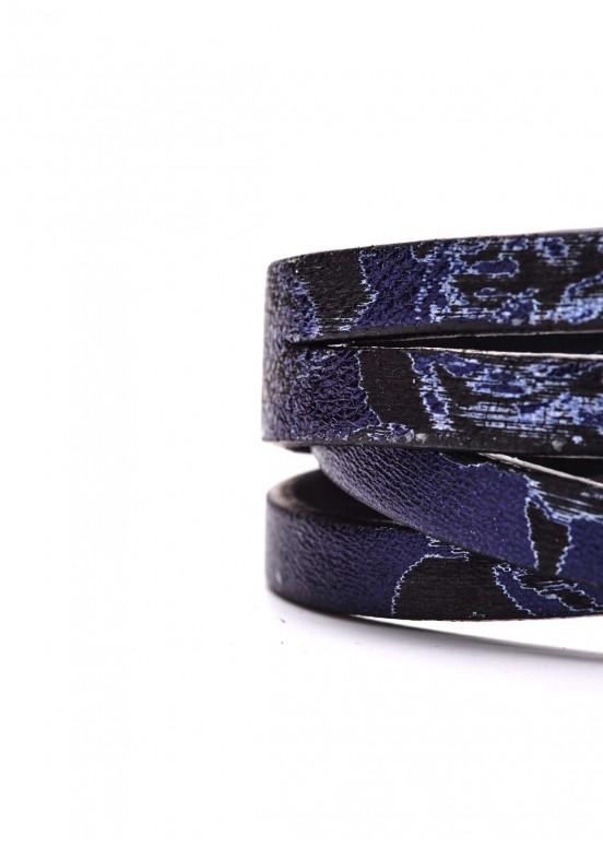 88106 Кожаный синий браслет