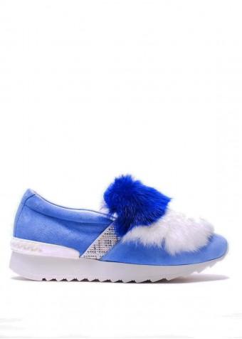Кроссовки с мехом кролика 561202