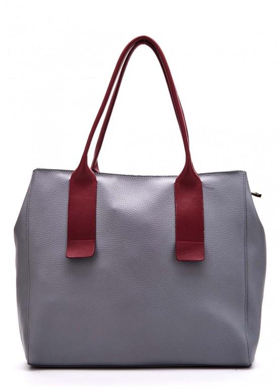 90802 Кожаная серая сумка