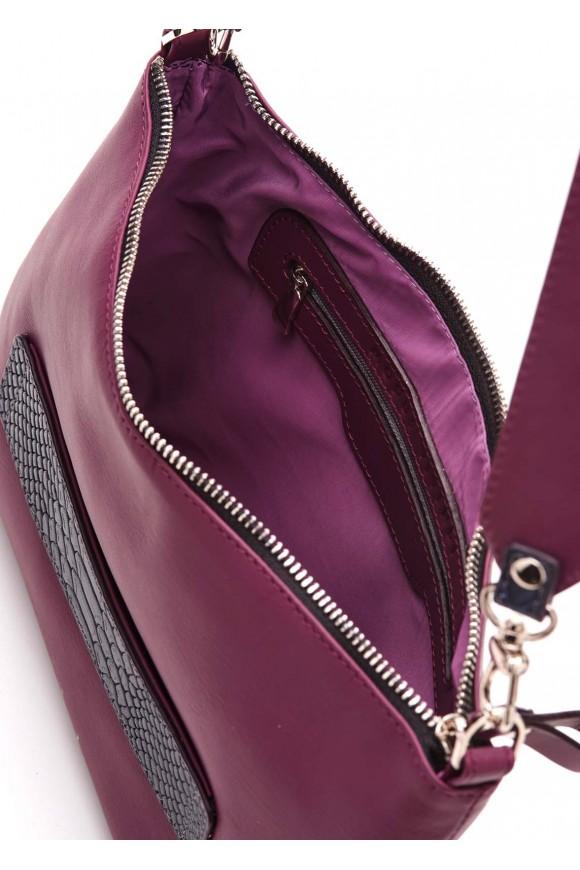 Лиловая сумка-клатч