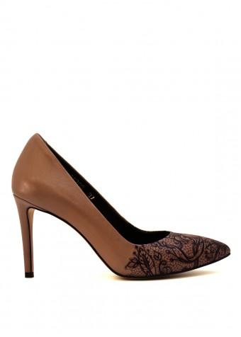 1111 Туфли кожаные с принтом
