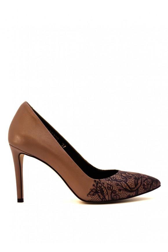 Туфли кожаные с принтом