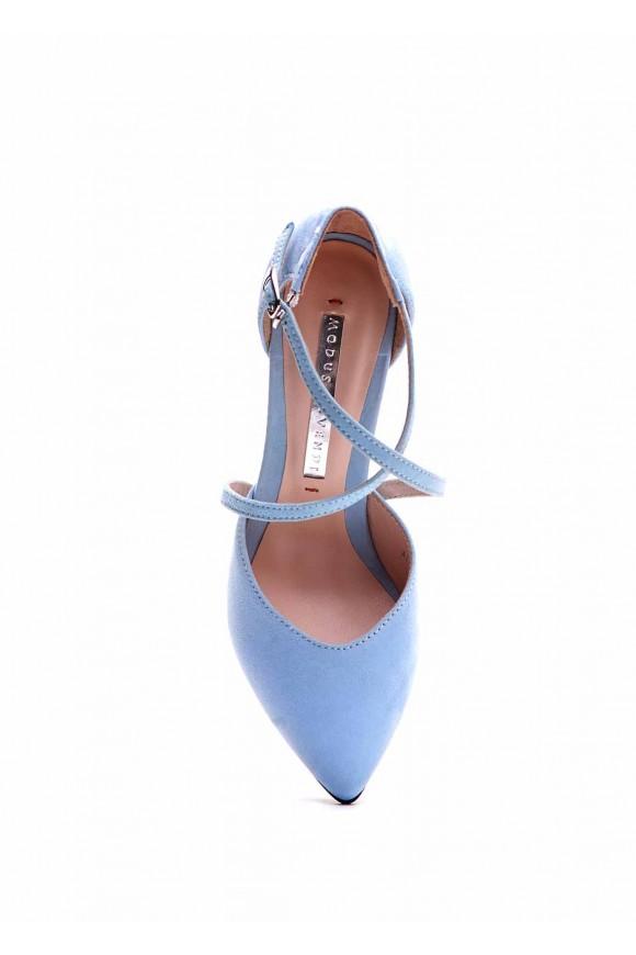 Відкриті замшеві туфлі
