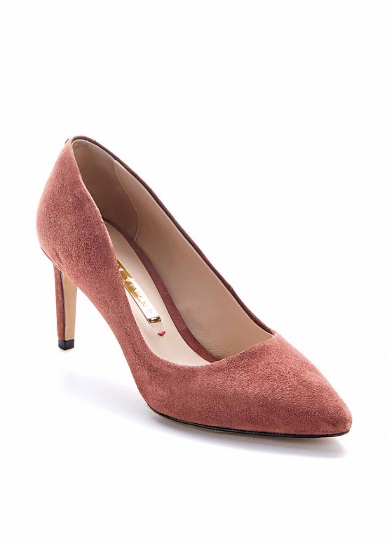 621065 Замшевые туфли на каблуке