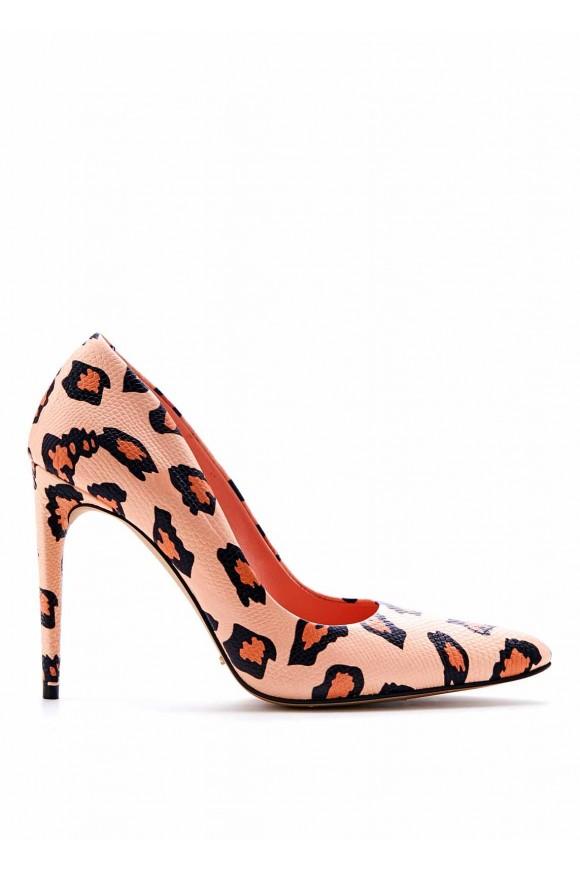 Леопардовые Туфли на Высоком Каблуке