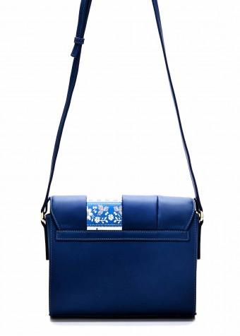 86101 Шкіряна синя сумка