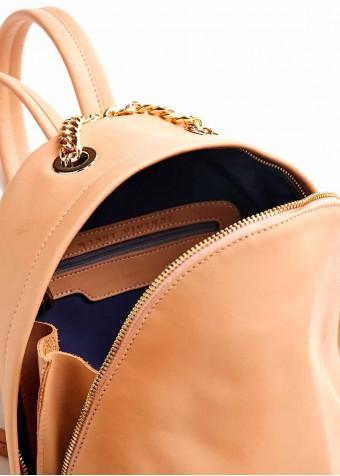 86901 Шкіряний бежевий рюкзак