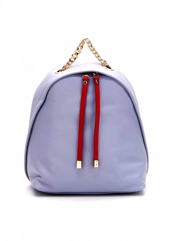86902 Голубой кожаный рюкзак