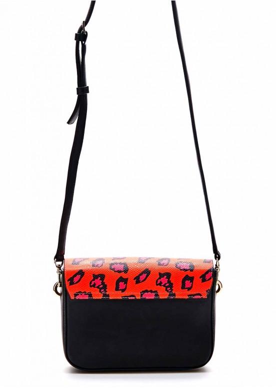 88052 Кожаная сумка с принтом