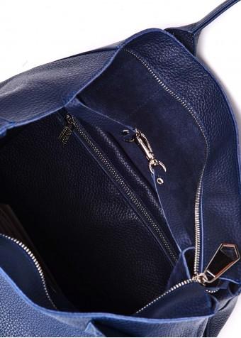 90801 Кожаная синяя сумка
