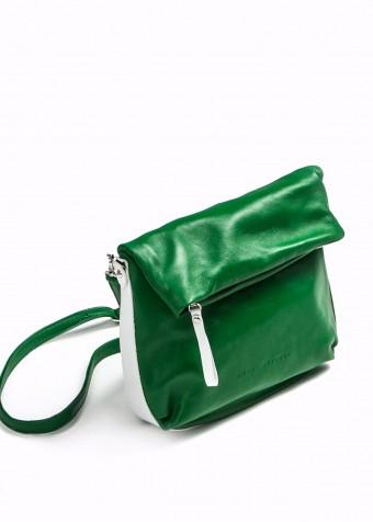 48706 Кожаная зеленая сумка
