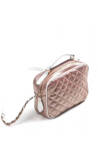 58102 Розовая кожаная сумка