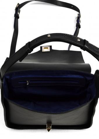 60103 Темно-синяя кожаная сумка