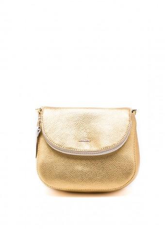 64801 Золота шкіряна сумка