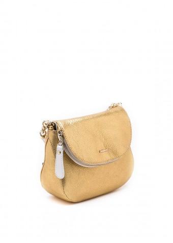 64801 Золотая кожаная сумка