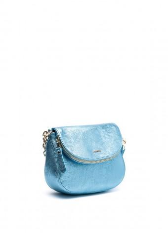 64802 Голубая сумка кожаная