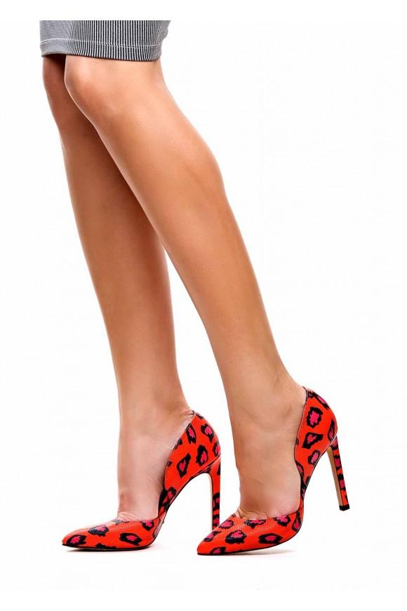 762301 Леопардовые туфли